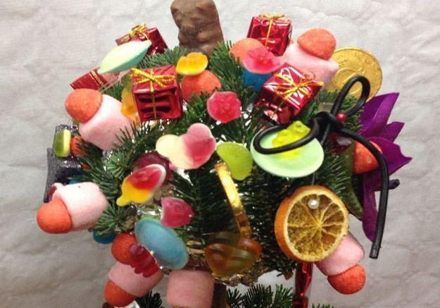 Créez un bouquet avec des bonbons!