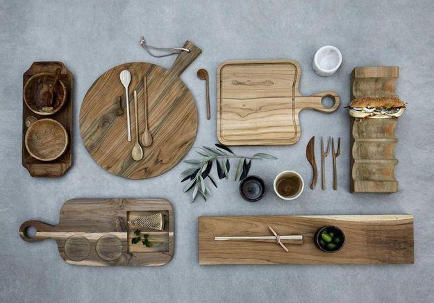 Des éléments en bois pour une décoration cosy