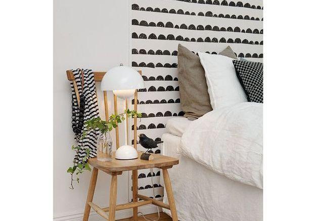 Une chambre avec motifs