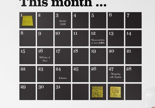 Calendrier sticker