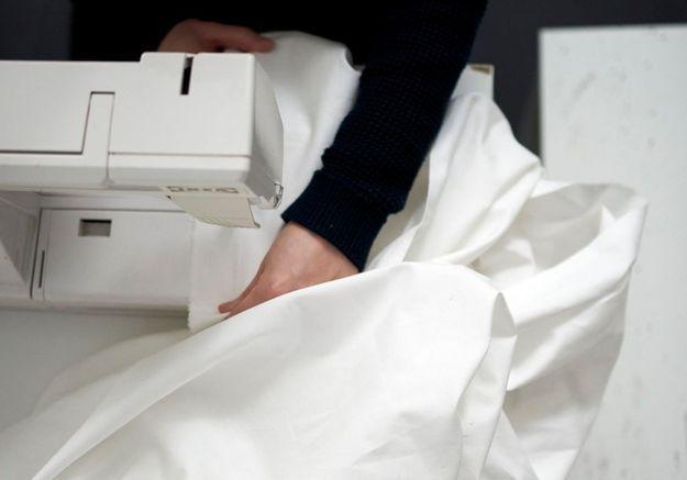 Cousez le tissu du tipi