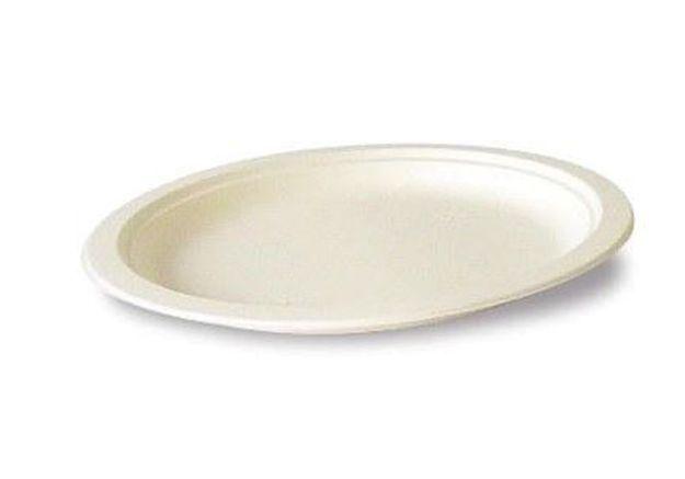 Assiette canne a sucre ronde 18 cm 1201899
