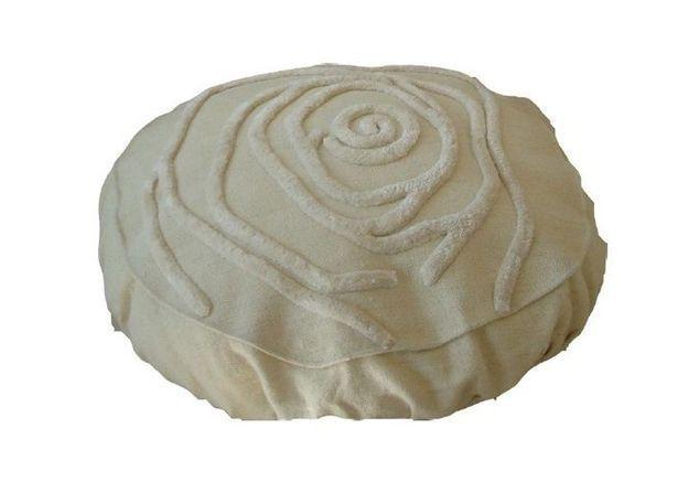 Pouf rose blanc