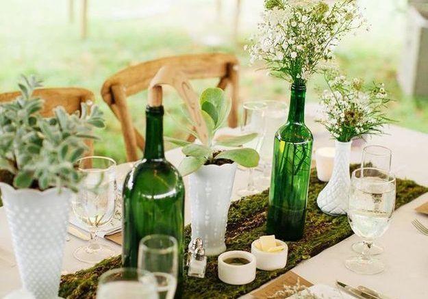 Les bouteilles en verre relookées en objets déco !