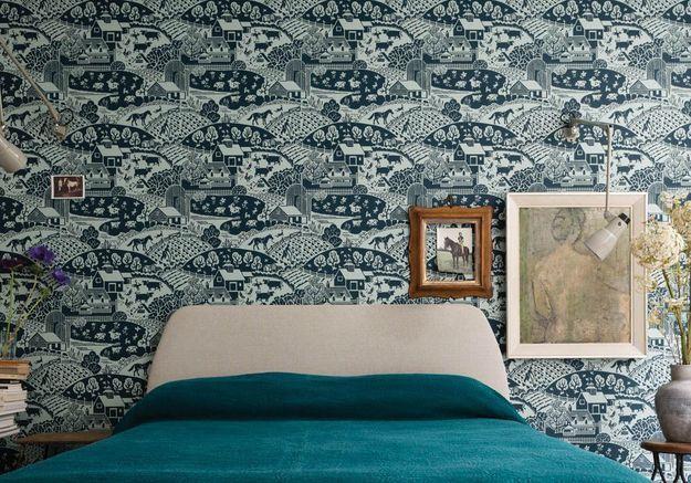 25 superbes papiers peints pour la chambre elle d coration - Avis farrow and ball ...