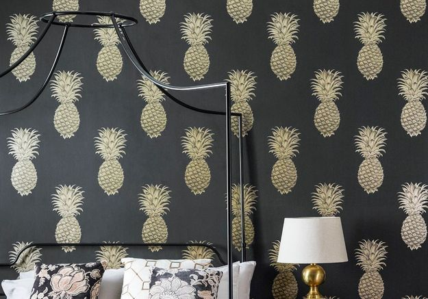 "Papier peint ""Pineapple Art of Garden"" Sanderson"