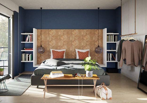 notre s lection de papiers peints pour une chambre tendance elle d coration. Black Bedroom Furniture Sets. Home Design Ideas