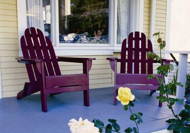 Repeindre mobilier de jardin et volets