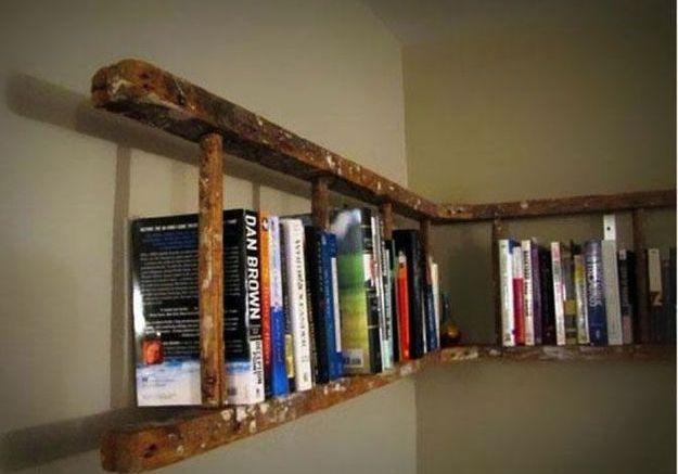 1. Une ancienne échelle comme bibliothèque