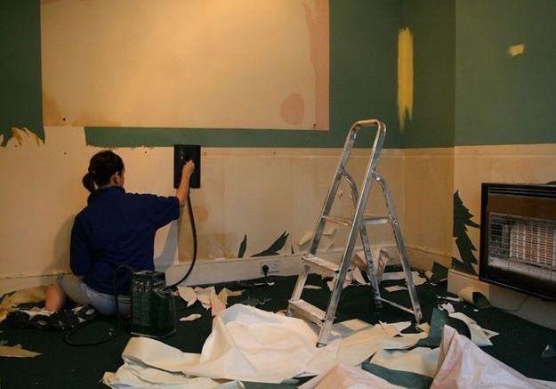 decoller du papier peint facilement - photos de conception de ... - Decoller Papier Peint Sur Placo Non Peint