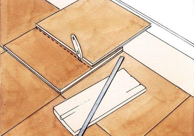 Effectuer les découpes de dalles de moquette