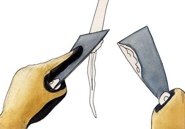 Reboucher les trous et les fissures