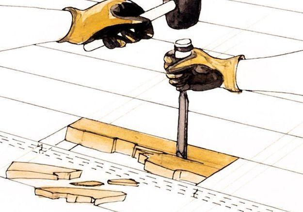 R nover un vieux parquet elle d coration - Changer une lame de parquet ...