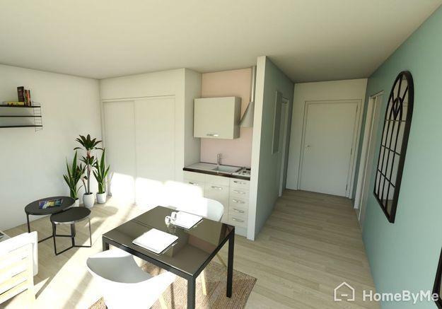 Aménager son studio de 35 m² en délimitant les espaces salon, cuisine et salle à manger grâce à la peinture