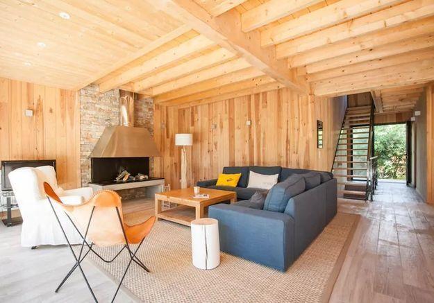 Maison typique en bois près du Cap-Ferret