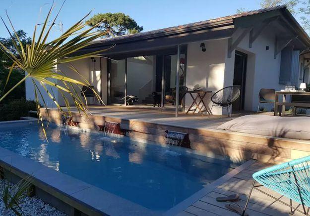 Villa aux multiples terrasses près du Cap-Ferret