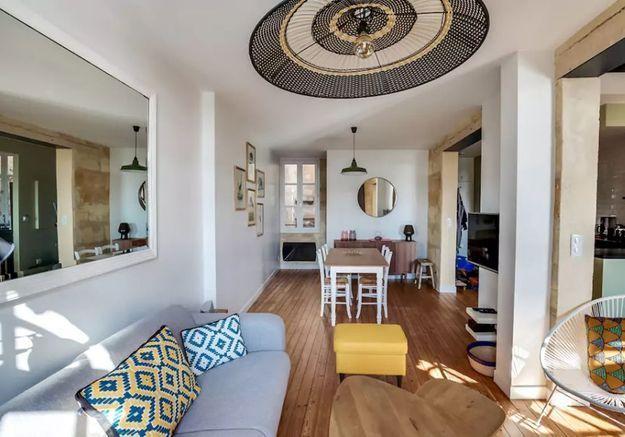 Appartement en duplex à la déco ethnique-chic à Bordeaux