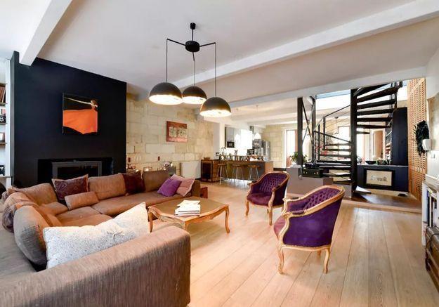 Maison de ville transformée en loft à Bordeaux