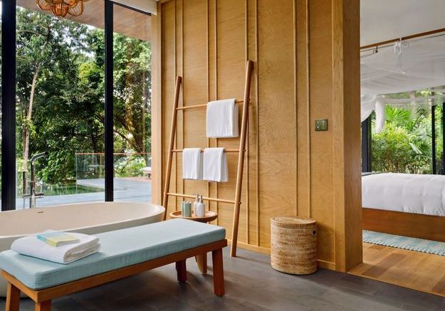 La chambre de l'hôtel Krabey Island au Cambodge