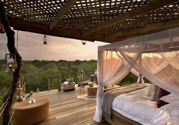 La chambre de l'hôtel Lion Sands Game Reserve en Afrique du Sud