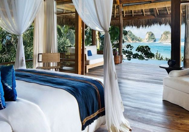 La chambre de l'hôtel Nihi Sumba en Indonesie