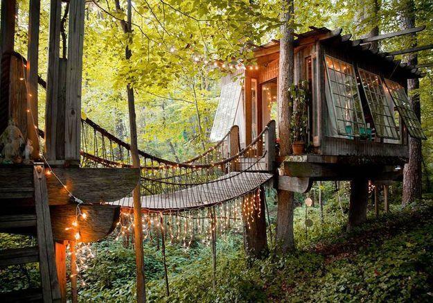 Une cabane dans les arbres à Atlanta (Géorgie)
