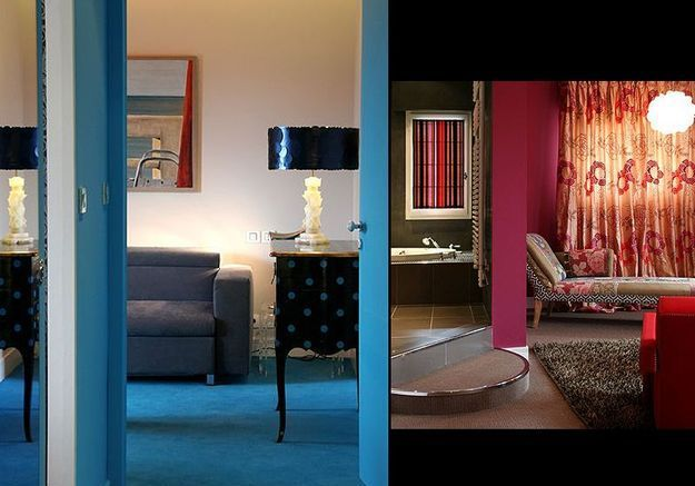 Les chambres : des palettes de couleurs