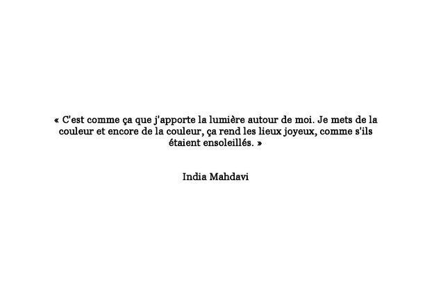 Citation d'India Mahdavi