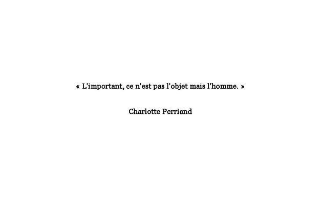 Citation de Charlotte Perriand