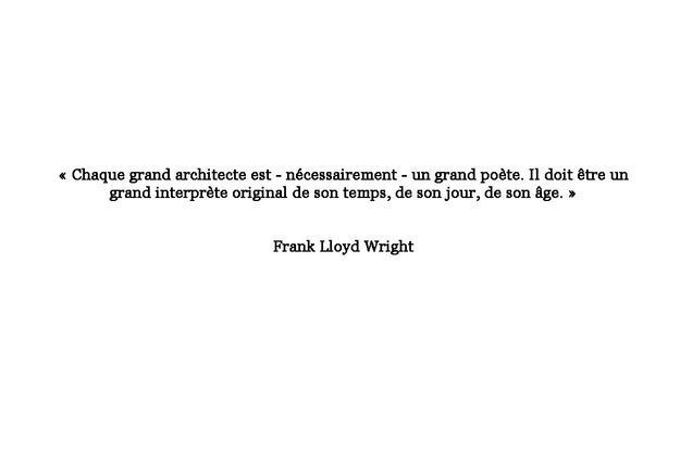 Citation de Frank Lloyd Wright
