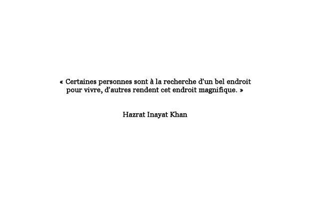 Citation de Hazrat Inayat Khan