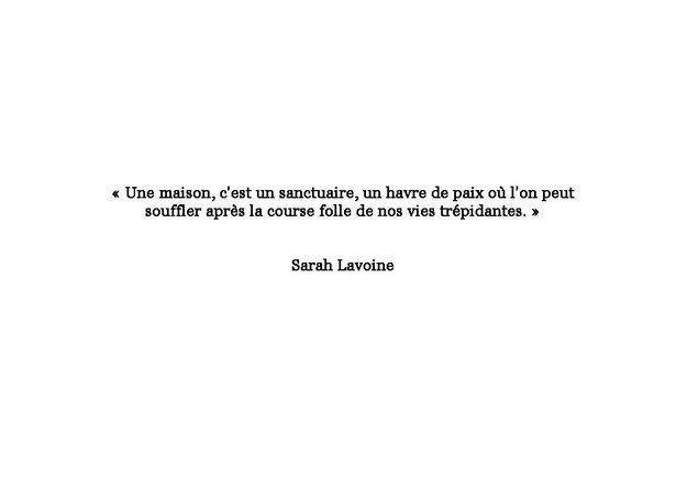 Citation de Sarah Lavoine