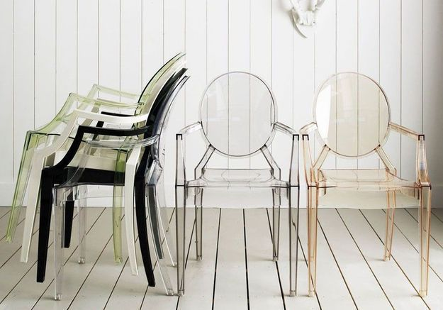 Fauteuil Louis Ghost (de Philippe Starck / Kartell)