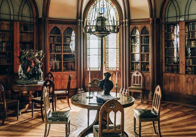 Une bibliothèque rotonde