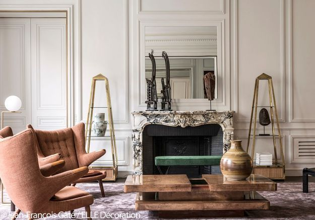 Salon à l'esprit parisien