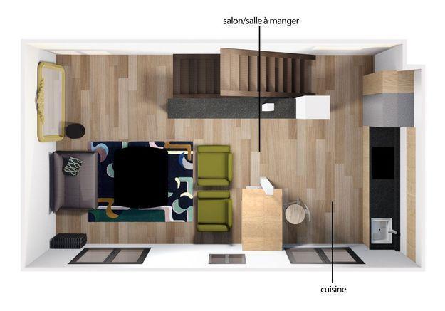 Le plan 3D du premier étage
