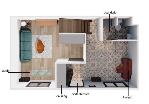 de 46 m 84 m la folle histoire de cette petite maison devenue grande elle d coration. Black Bedroom Furniture Sets. Home Design Ideas