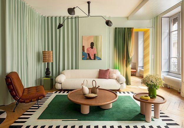 L'appartement vitrine de la décoratrice lyonnaise Claude Cartier