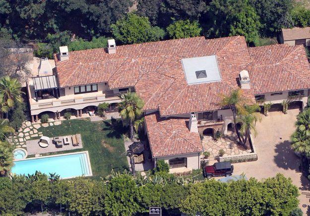 La villa (où a grandi) Miley Cyrus (Los Angeles, USA)