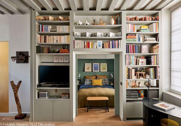 La chambre cachée par une bibliothèque