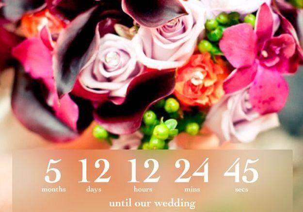 Wedding Countdown, pour le décompte