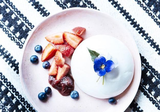 On fond pour le menu vegan de Solla Eiríksdóttir