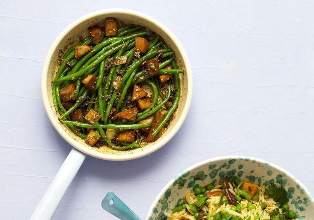 Menu végétarien léger et tout en fraîcheur