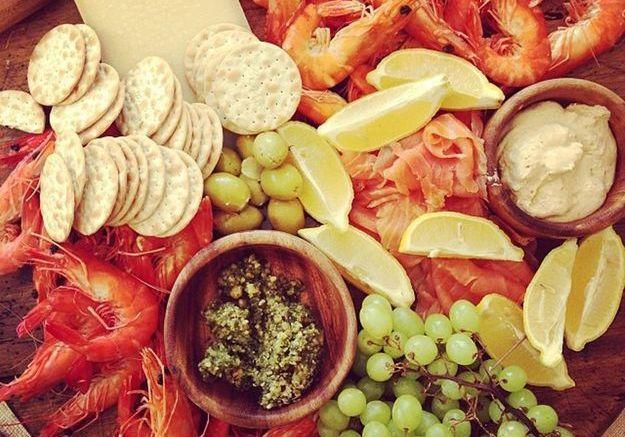Le plateau de fruits de mer de Dannii Minogue