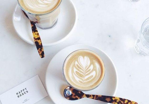 Latte art classique