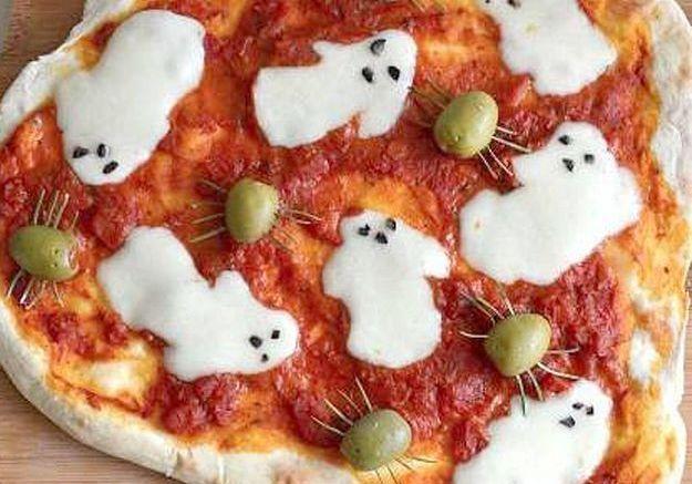 Pizza fantôme de Halloween