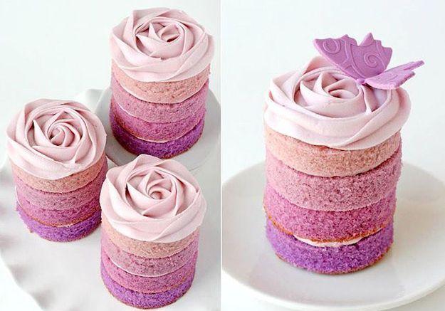 Rose cake violet