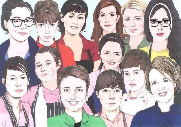 Treize femmes chefs à table