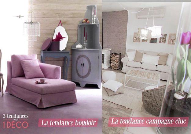 3 Tendances pour 1 Déco - Le style Boudoir et Campagne chic!