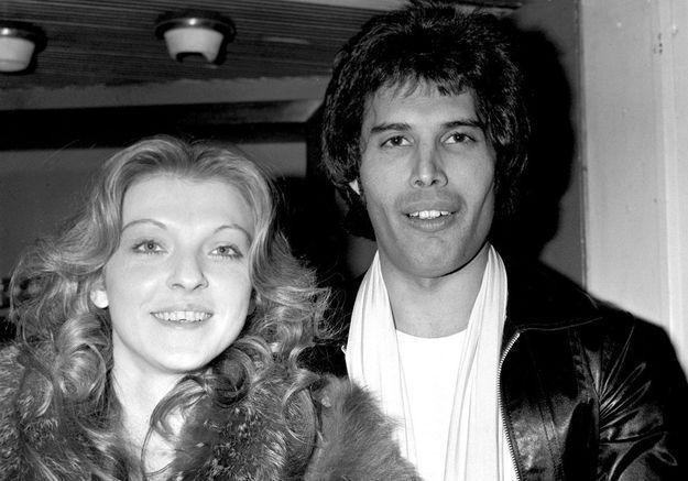 Mary Austin, la muse et amoureuse de Freddie, en 1977